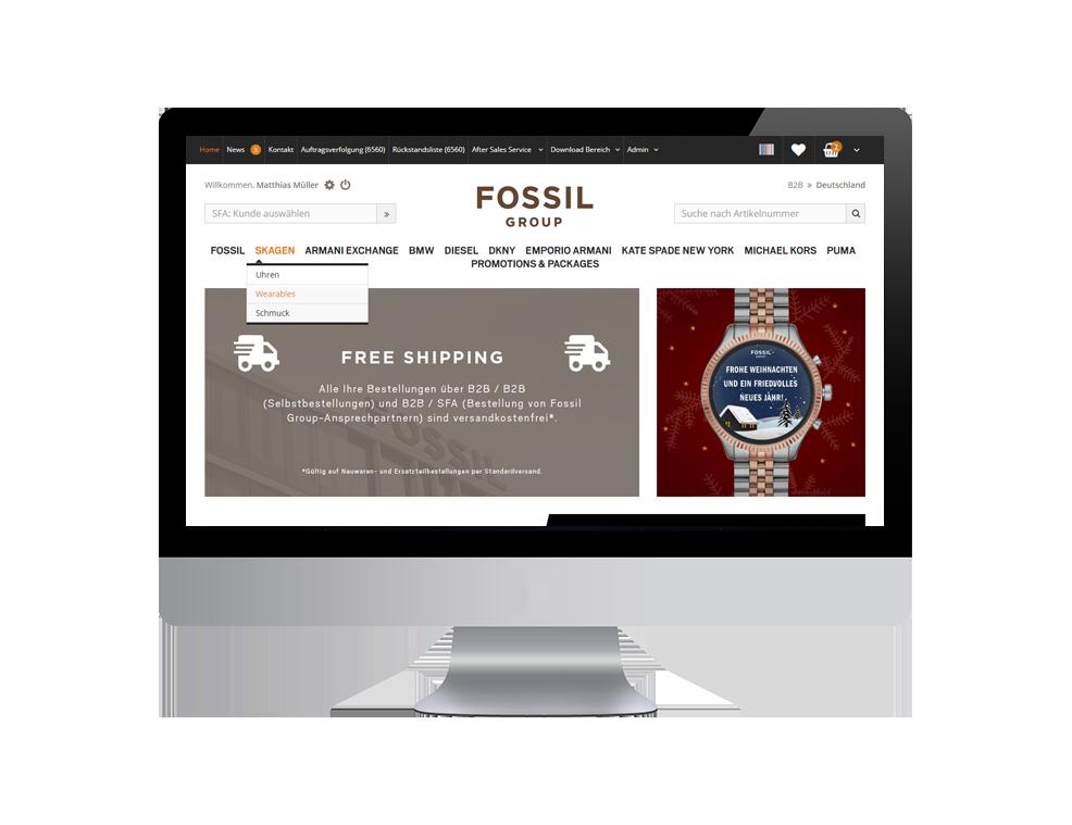 Fossil B2B